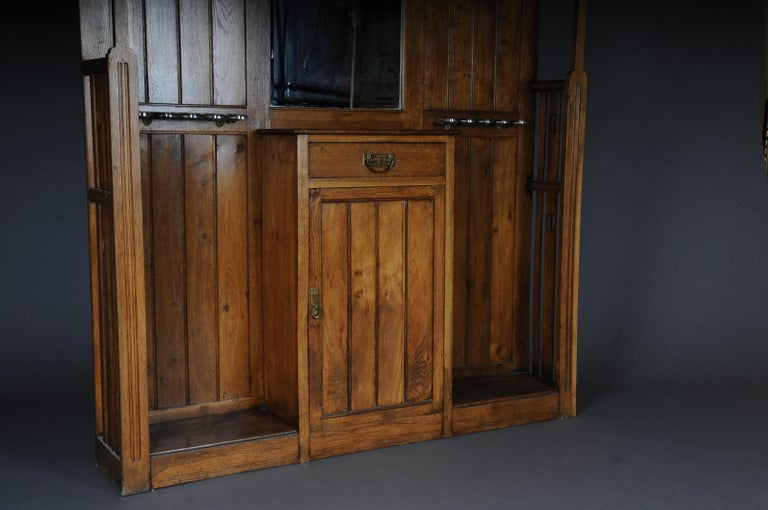 Unique Art Nouveau Wall Wardrobe Oak, circa 1900 For Sale 5