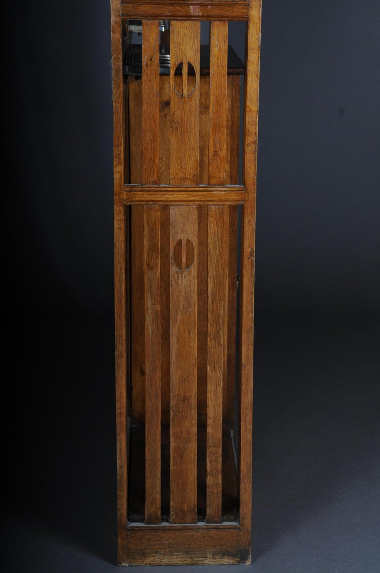 Unique Art Nouveau Wall Wardrobe Oak, circa 1900 For Sale 12