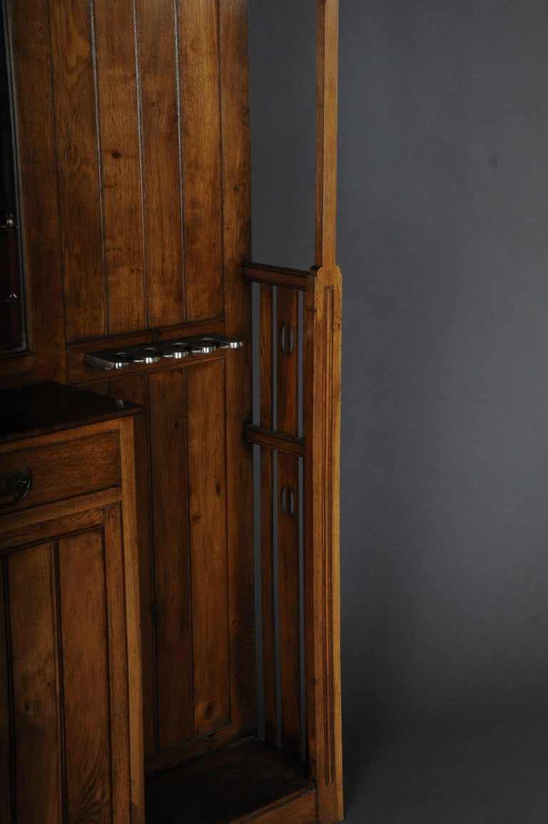 Unique Art Nouveau Wall Wardrobe Oak, circa 1900 For Sale 1