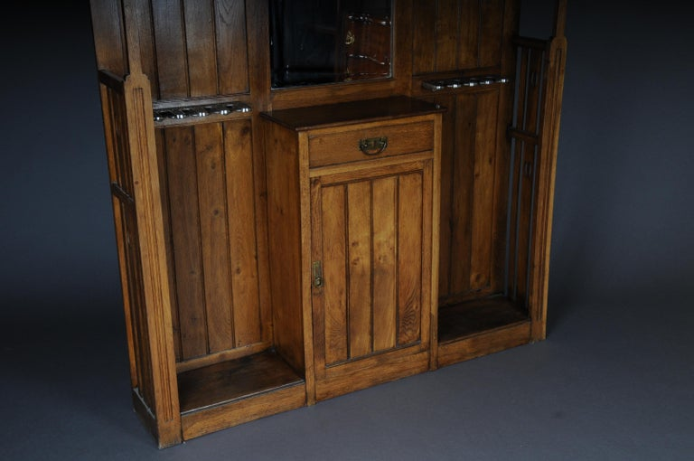 Unique Art Nouveau Wall Wardrobe Oak, circa 1900 For Sale 4