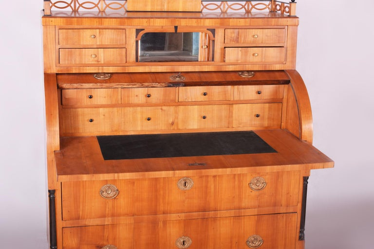 Unique Austrian Empire Cylinder Secretary/Writing Desk, Material Cherry, Wien For Sale 6