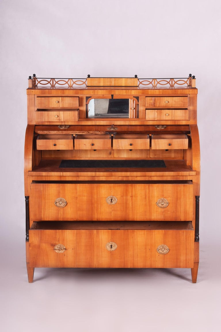 Unique Austrian Empire Cylinder Secretary/Writing Desk, Material Cherry, Wien For Sale 2
