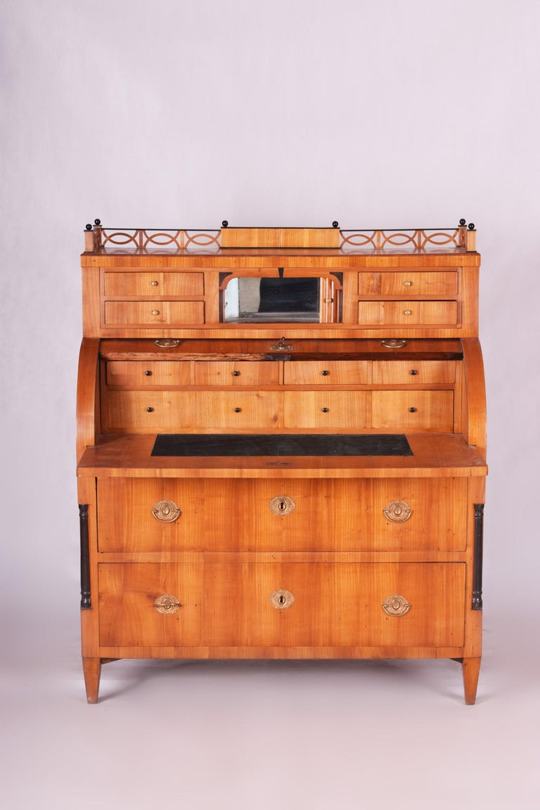 Unique Austrian Empire Cylinder Secretary/Writing Desk, Material Cherry, Wien For Sale 3