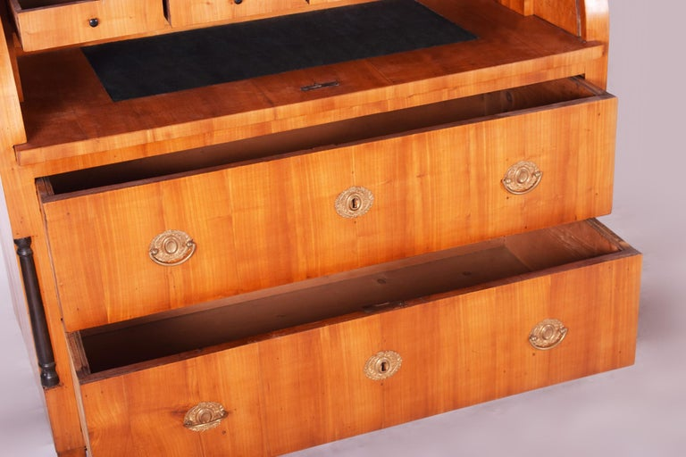 Unique Austrian Empire Cylinder Secretary/Writing Desk, Material Cherry, Wien For Sale 5