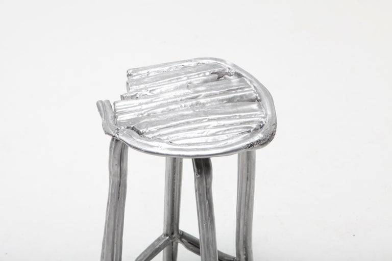 Aluminum Unique Bar Stool T-009 by Studio Nicolas Erauw For Sale