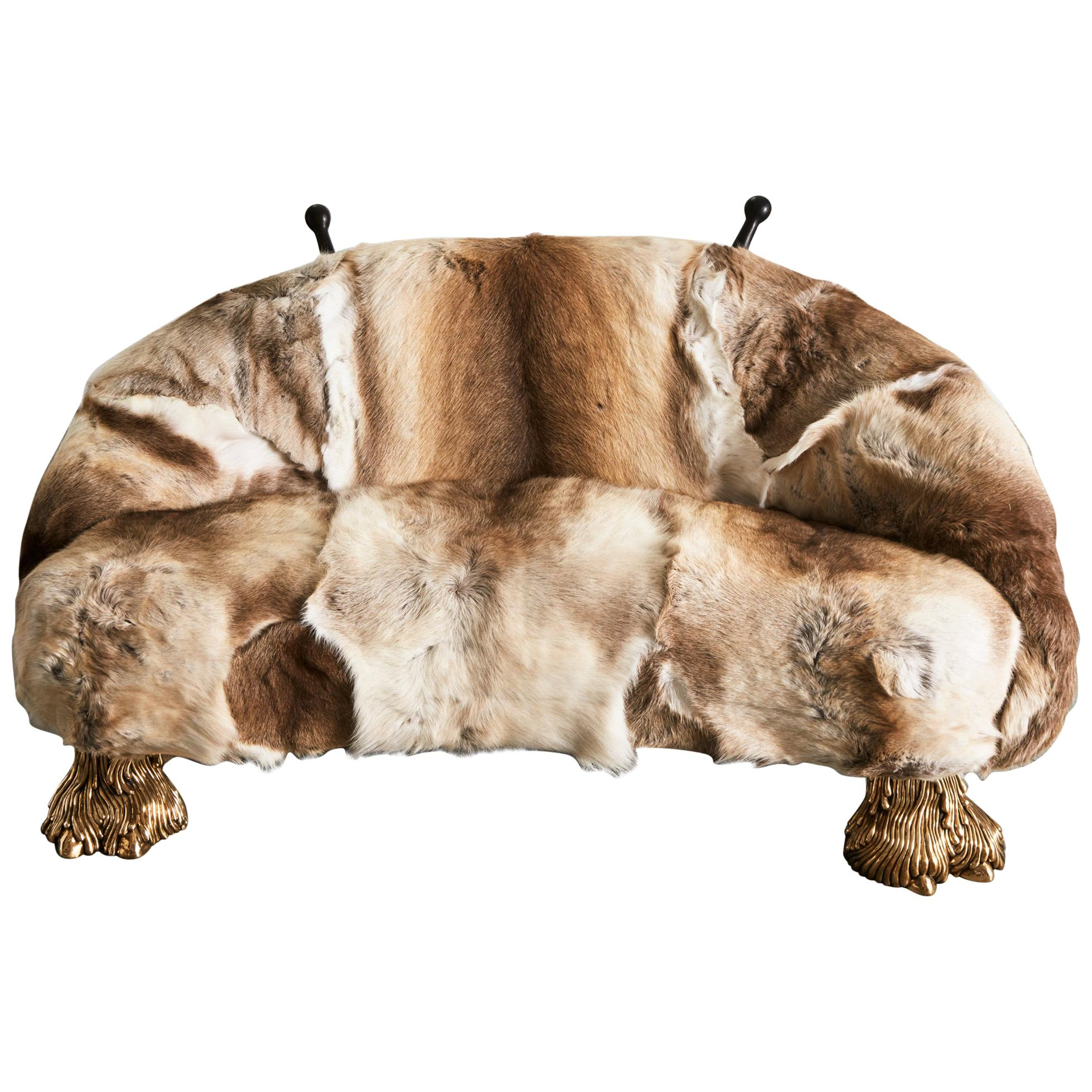 Unique Beast Settee by The Haas Brothers
