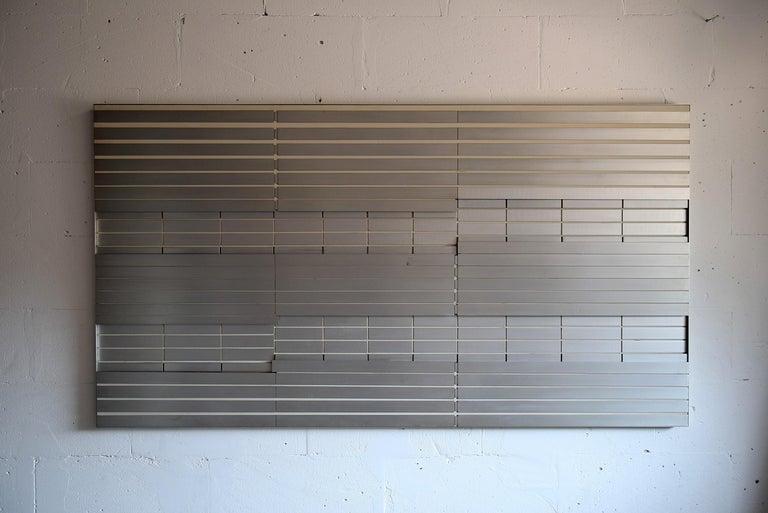 Mid-Century Modern Unique Big Aluminium 1970 Wall Sculpture by Salvatore Messina For Sale
