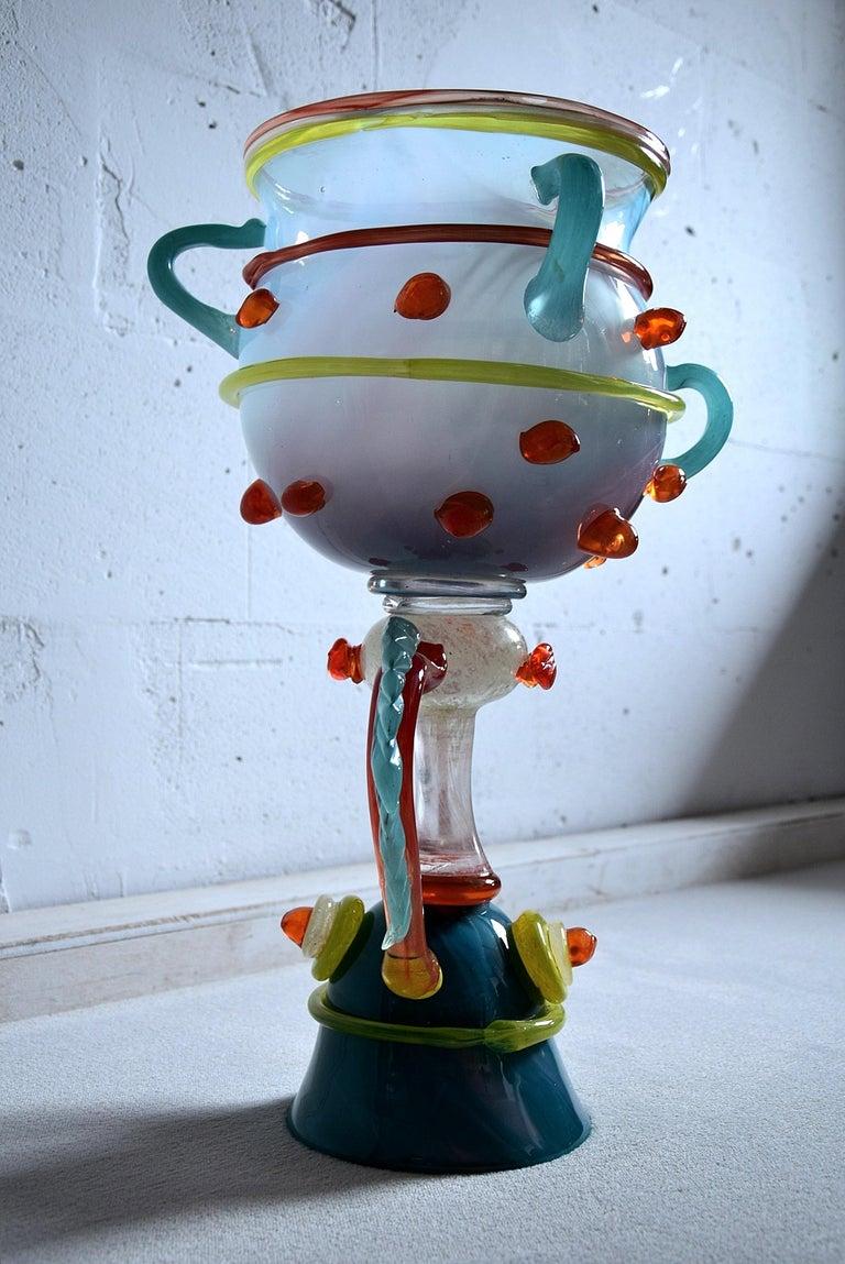 Unique Big Art Glass Sculpture by Bernard Heesen, 2009 For Sale 3
