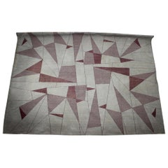 Unique Big Extra Large Abstract Design Geometric Carpet / Rug, 1950s