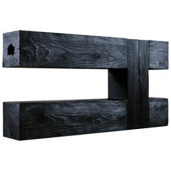 Unique Blackened Redwood Console by Base 10