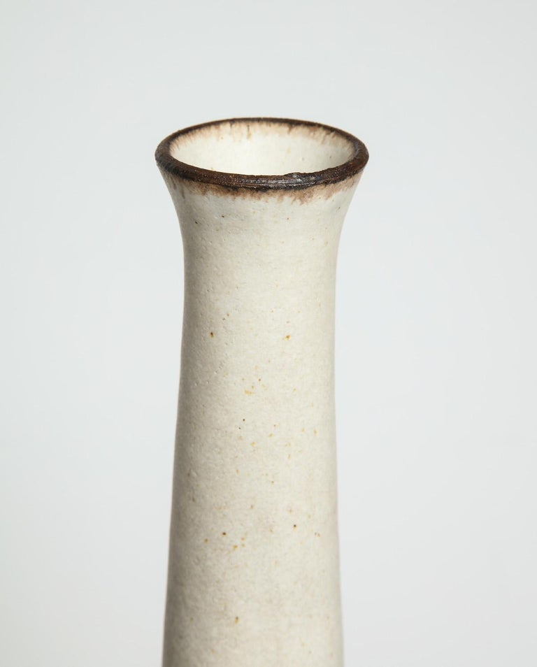 Late 20th Century Unique Bottle Form Vase by Bruno Gambone For Sale