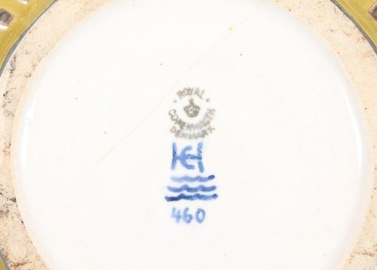 Unique Bowl Design by Carl Halier for Royal Copenhagen In Excellent Condition For Sale In Lejre, DK