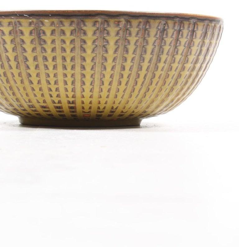 Mid-20th Century Unique Bowl Design by Carl Halier for Royal Copenhagen For Sale