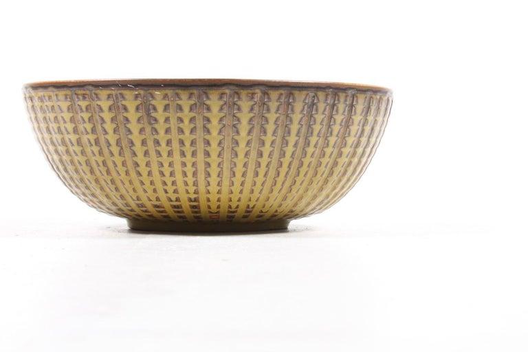 Stoneware Unique Bowl Design by Carl Halier for Royal Copenhagen For Sale