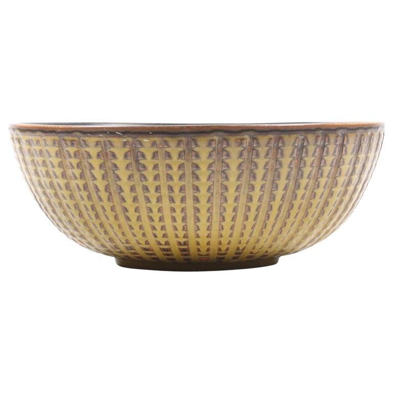 Unique Bowl Design by Carl Halier for Royal Copenhagen For Sale