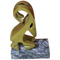 Unique Brass and Marble Sculpture