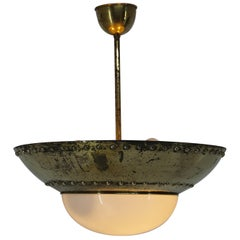 Unique Brass Chandelier by Franta Anyz, 1920s