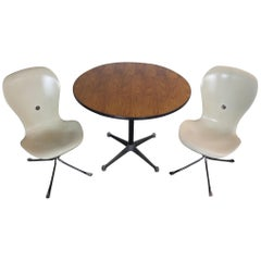 Unique Breakfast Cafe Style Dining Set Charles & Ray Eames and Gideon Kramer