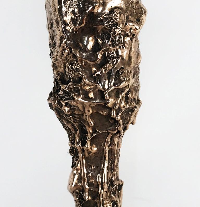 Unique Bronze Sculptural Table Lamp, Signed by William Guillon For Sale 7