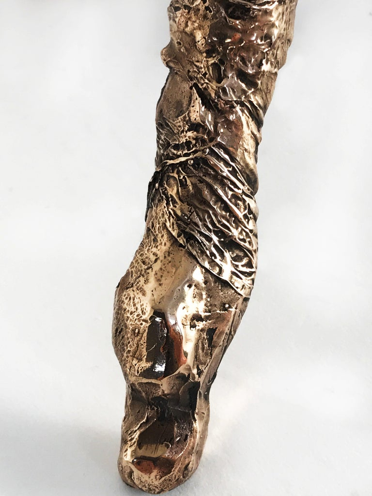 Unique Bronze Sculptural Table Lamp, Signed by William Guillon For Sale 5