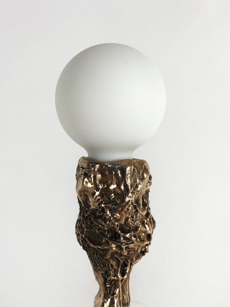 Unique Bronze Sculptural Table Lamp, Signed by William Guillon For Sale 6