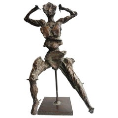Unique Bronze Sculpture by Jean-Robert Ipoustéguy, Personnage En Mouvement