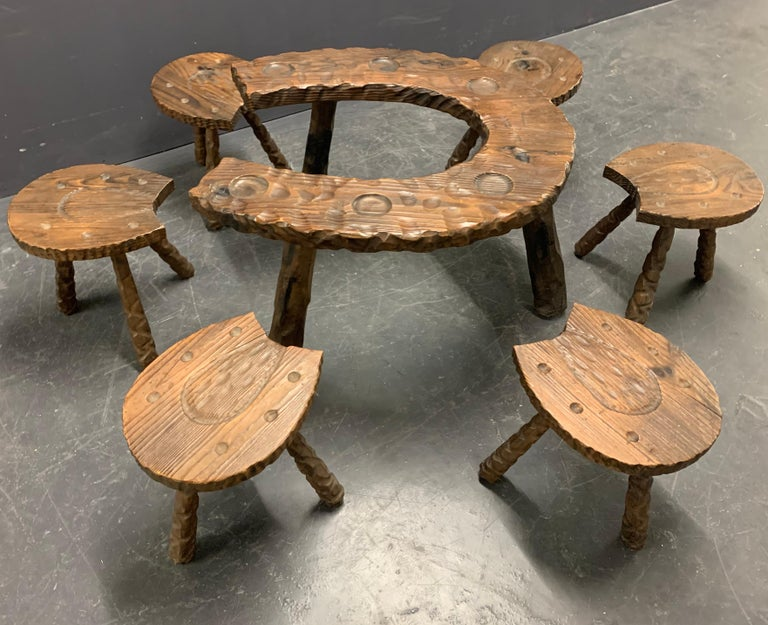 Unique Cabinetmakers Game Table, or Party Set For Sale 5