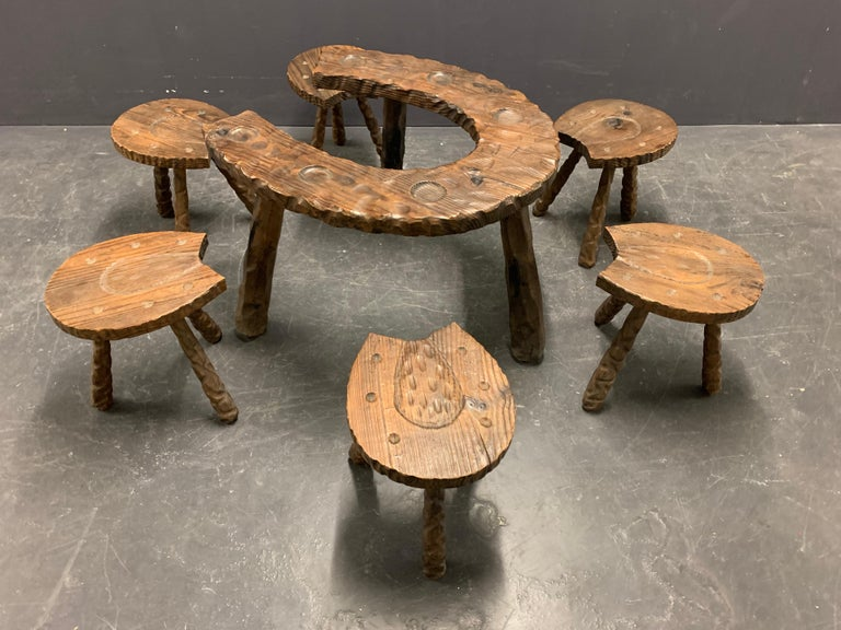 Unique Cabinetmakers Game Table, or Party Set In Good Condition For Sale In Munich, DE