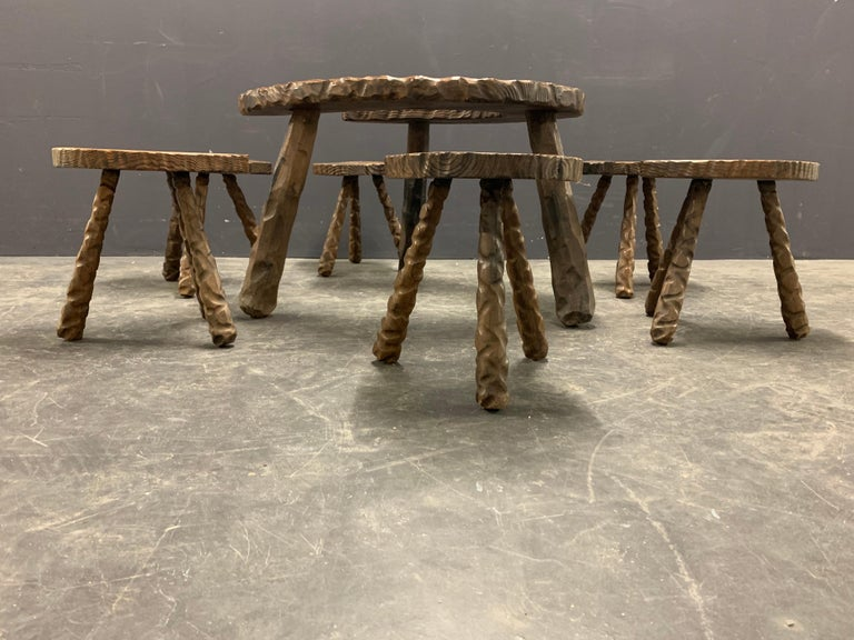 Late 20th Century Unique Cabinetmakers Game Table, or Party Set For Sale