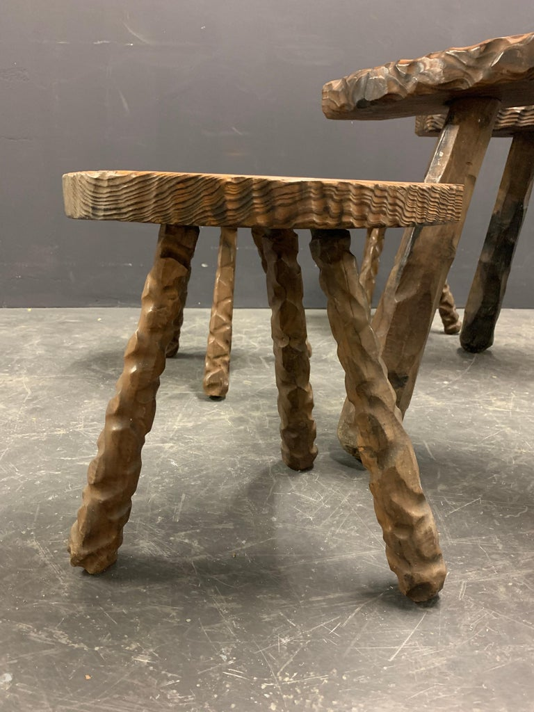 Wood Unique Cabinetmakers Game Table, or Party Set For Sale