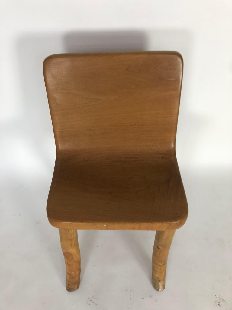 Unknown Unique Carved Teak Chair #2 For Sale