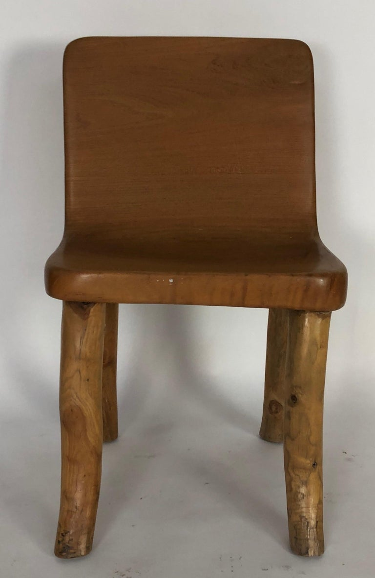 Unique Carved Teak Chair #2 In Good Condition For Sale In Los Angeles, CA