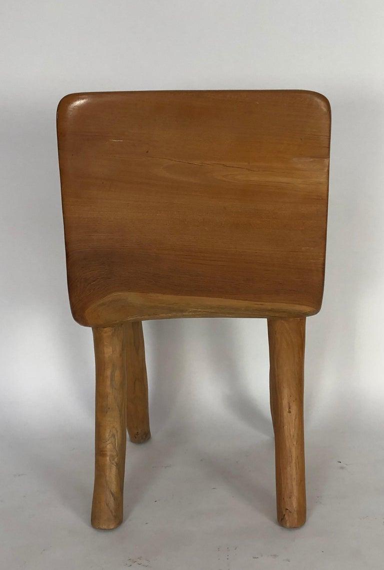 Unique Carved Teak Chair #2 For Sale 1