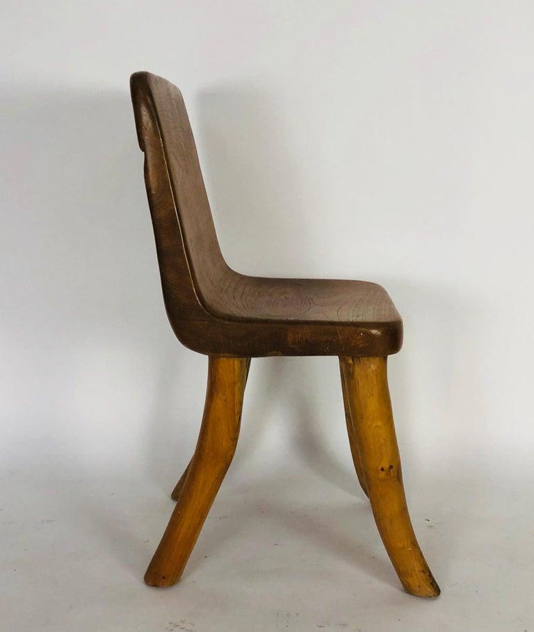 Unique Carved Teak Chair #2 For Sale 2