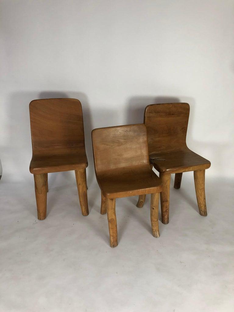 Unique Carved Teak Chair #2 For Sale 3