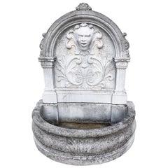 Unique Cast Cement Rich Garden Fountain, Italy, circa 1950
