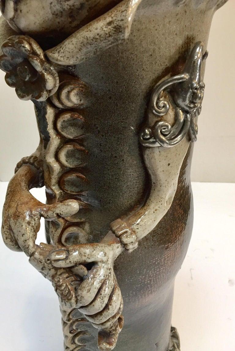 Brutalist Ceramic Sculpture Art Studio Pop Surrealist Fantasy Figure Signed For Sale 5