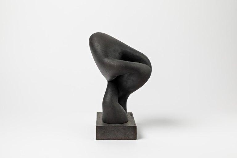 French Unique Ceramic Sculpture by Pierre Martinon, circa 2000 For Sale