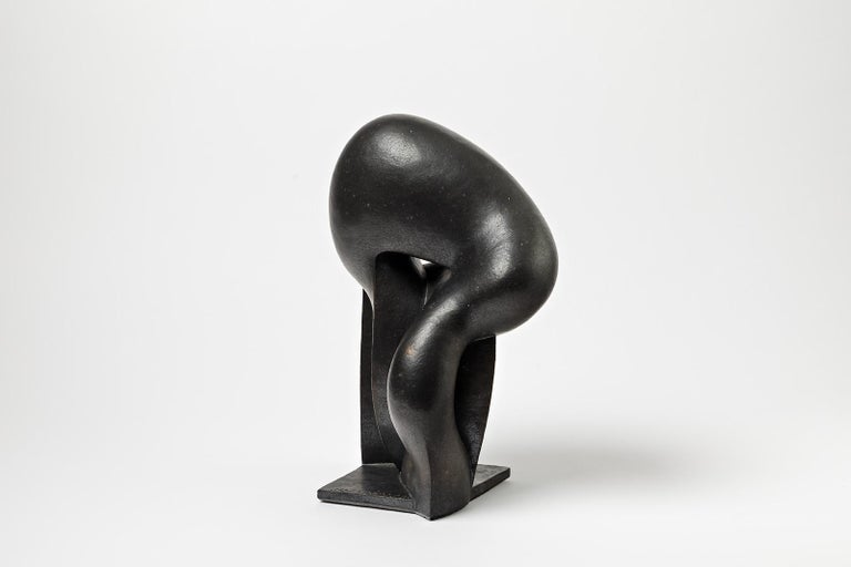 Unique Ceramic Sculpture by Pierre Martinon, circa 2000 In New Condition For Sale In Saint-Ouen, FR