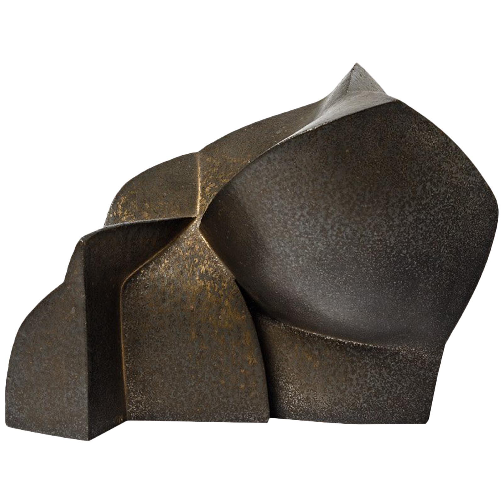 Unique Ceramic Sculpture by Pierre Martinon, circa 2000