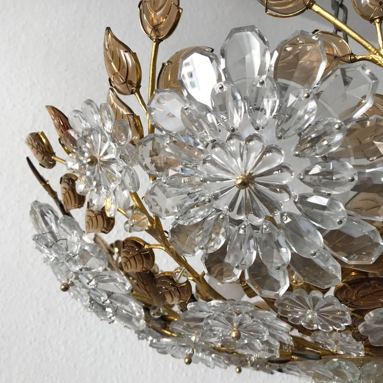 Unique Chandelier or Flush Mount in the Style of Oswald Haerdtl, Lobmeyr, 1960s For Sale 4