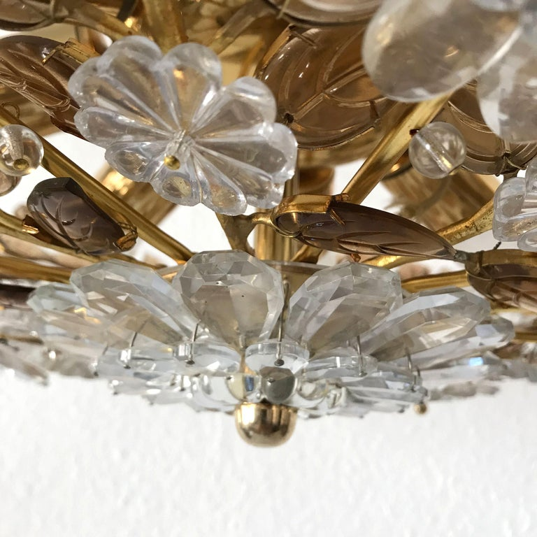 Unique Chandelier or Flush Mount in the Style of Oswald Haerdtl, Lobmeyr, 1960s For Sale 10
