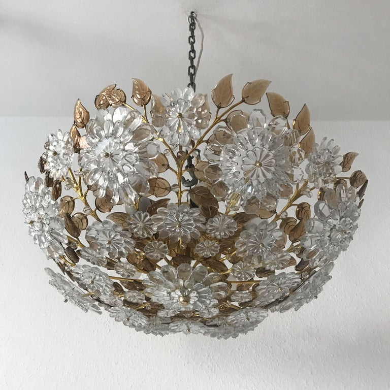 Mid-Century Modern Unique Chandelier or Flush Mount in the Style of Oswald Haerdtl, Lobmeyr, 1960s For Sale