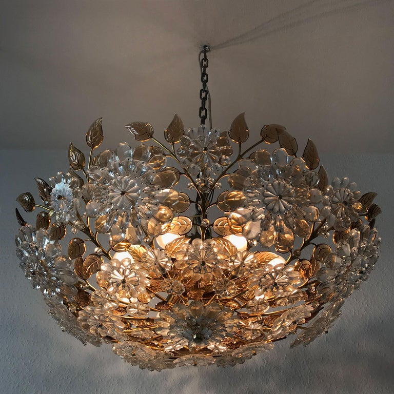 Austrian Unique Chandelier or Flush Mount in the Style of Oswald Haerdtl, Lobmeyr, 1960s For Sale
