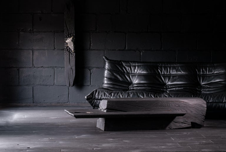 Other Unique Charcoal Black Coffee Table by Jeremy Descamps For Sale