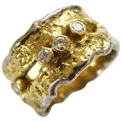 Unique Charles de Temple Band Ring, 1980