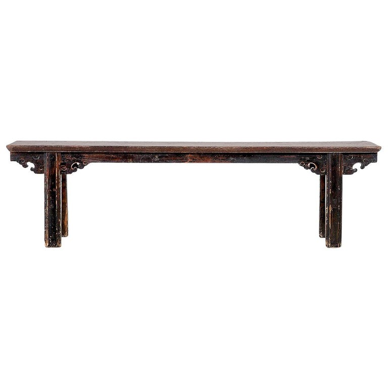 Unique Wood Benches: Unique Chinese Wooden Bench, 100 Years Old For Sale At 1stdibs