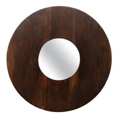 Unique Circular Shaped Mirror with Great Side Profile with Projection from Wall