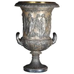 Unique Classicist Amphoras / Crater Vase WMF Silver, circa 1900