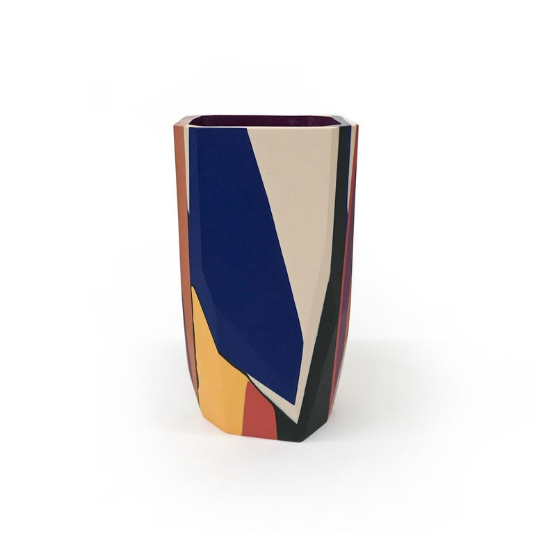 American Unique Contemporary Cast Resin Isere Vase by Elyse Graham For Sale